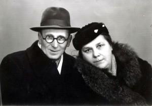 Esther and Srul (Israel) Shmunis. Odessa. Year 1960.