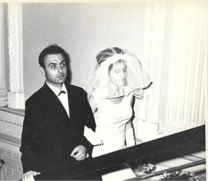 Wedding ceremony of Michail Shklyanoy and Bena Babinskaya. Kiev. Sept. 5, 1967.