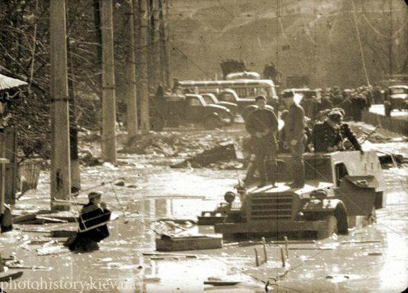 Kiev. Kurenevka tragedy of 1961. Picture copied from www.photohistory.kiev.ua.