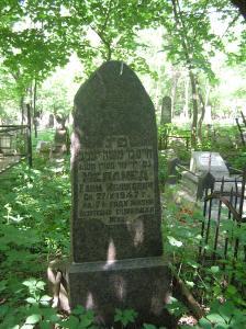 Kiev. Grave site of Khaim Melamed, husband of Khanah Melamed, nee Averbukh on the Kurenevskoye cemetery. Year 2007-2011.