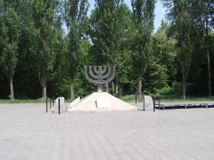 Kiev. Babi Yar monument to the Jews (about 100,000) massacred here in 1941. Dedicated on Sept. 29, 1991, on the 50th anniversary of the mass murder. Year 2007-2011.