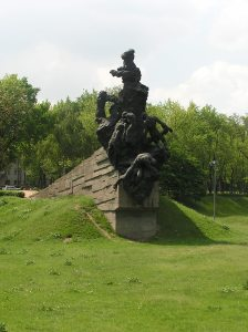 Kiev. An official memorial to Soviet citizens shot at Babi Yar erected in 1976. Year 2007-2011.