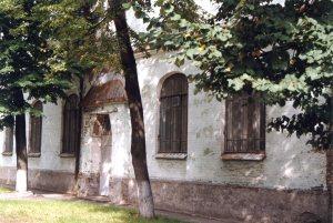 Kiev. Area of Kurenevka. Building of former School No. 14. Year 1997.