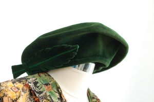 Rakhil's green beret made of felt. Worn in the spring and fall for special occasions for twenty-five years beginning around 1955.
